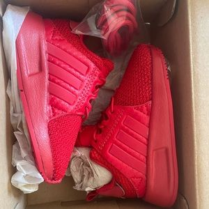 Red Adidas kids shoes size 5